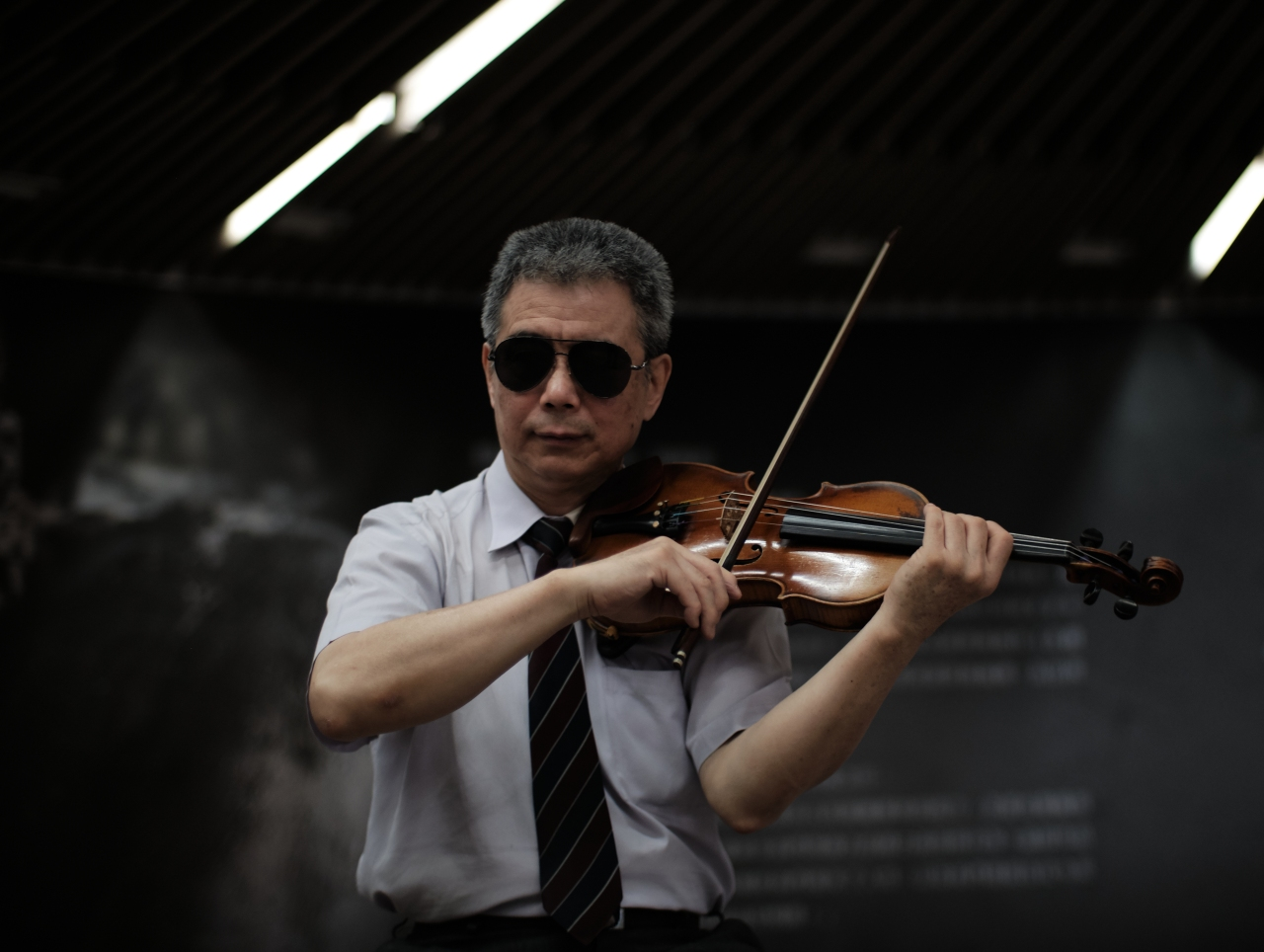 The Blind Subway Performer